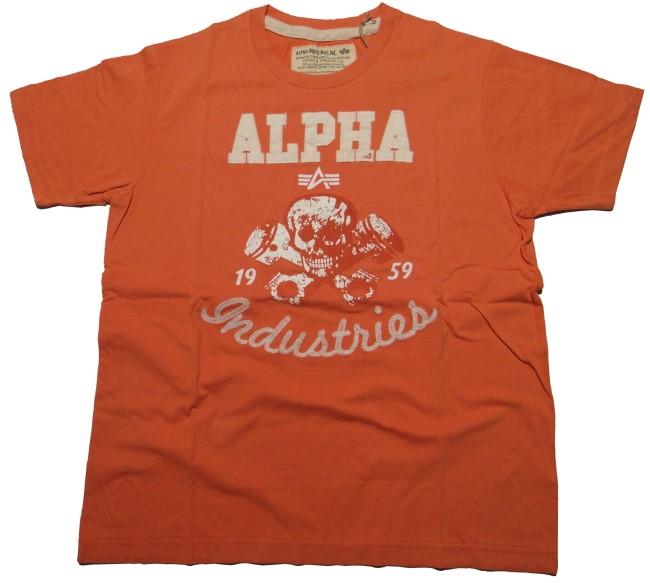 alpha industries t shirt piston skull alpha industries. Black Bedroom Furniture Sets. Home Design Ideas