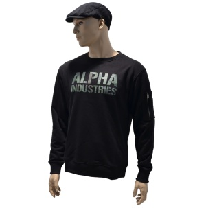 Alpha Industries Sweatshirt Camo Print woodland
