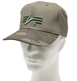 Alpha Industries Basecap Camo Logo