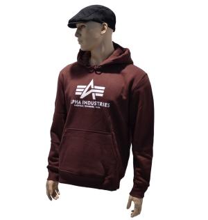Alpha Industries Kapuzensweatshirt Basic in burgundy