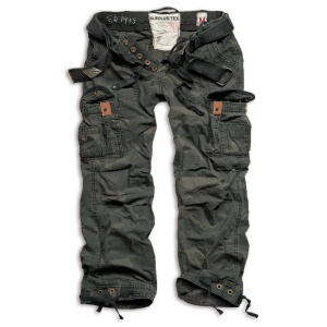 Surplus Premium Vintage Cargo-Trousers weit geschnittene Cargo-Hose mit 2 Seitentaschen eine perfekte Outdoorhose