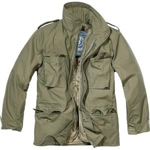 Brandit M65 Standart Feldjacke praktische Army Jacke in Farbe oliv