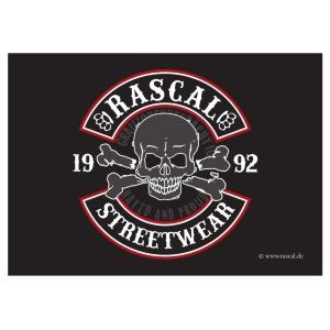 Aufkleber Rascal Skull Motiv - gratis