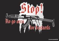 Aufkleber Stop No go area
