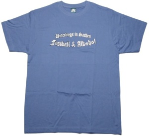 T-Shirt Fussball und Alkohol