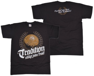 Ultras Style T-Shirt Tradition Fussball mit Herz