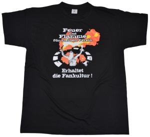 T-Shirt Feuer und Flamme für meinen Verein G417