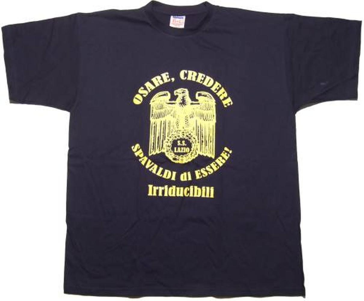 T shirt lazio r osare credere 3 halbzeit shop for Irriducibili shop