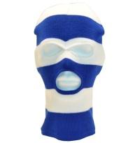 PG Wear Balaclava Sturmhaube 3-Loch blau/weiß