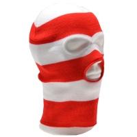 PG Wear Balaclava Sturmhaube 3-Loch rot/weiß