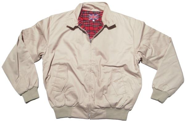 best website e649b 59cbf Sommer Jacke im Harrington Style schöne englandstyle Sommerjacke mit  karriertem Innenfutter in beige - Jacken bei Rascal Streetwear -  www.rascal.de