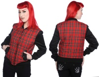Tartan Damenjacke Harrington Style Jacke 660524