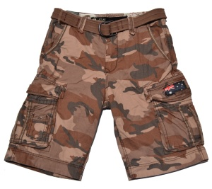 Jet Lag Short Take Off 8 in braun camouflage tarn