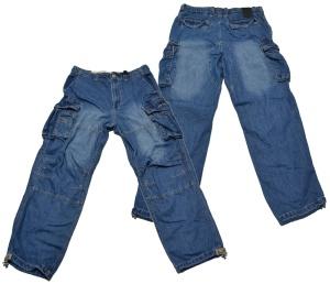 Jetlag Cargo Jeans Hose Safety denim lang mit vielen Taschen Länge 32