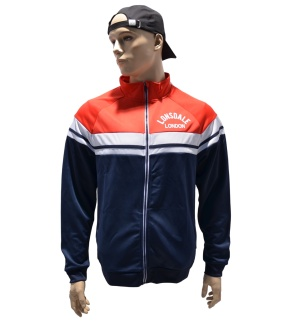 Lonsdale Retro-Sweatjacke Trainingsjacke old school style