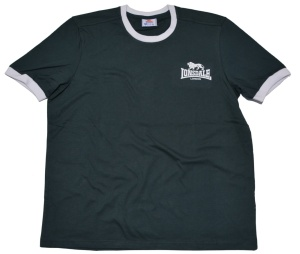 Lonsdale London Ringer T-Shirt in dunkelgrün