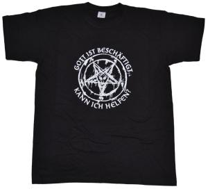 T-Shirt Gott ist beschäftigt kann ich helfen G531