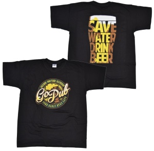 T-Shirt GoPub Save wather drink beer