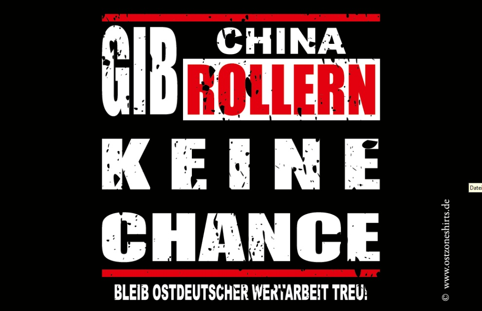 Aufkleber Anti China Roller Ostzone Bei Rascal Streetwear Wwwrascalde
