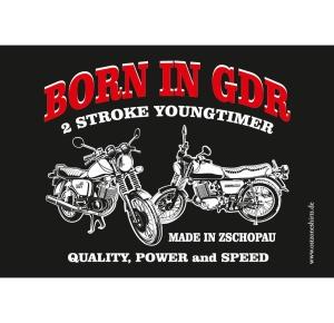Aufkleber Born in GDR