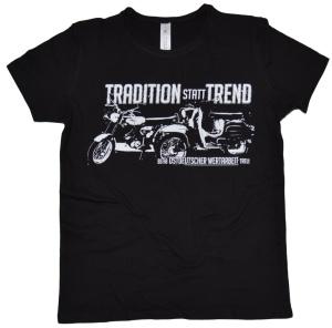Damen T-Shirt Tradition statt Trend Simson Motiv G45