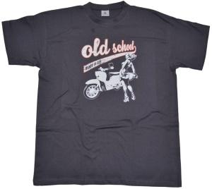 T-Shirt Old School made in GDR Schwalbe von Simson G516