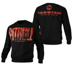 Pit Bull West Coast Crewneck Sweatshirt Orange Dog