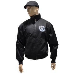 Harrington Style Jacke mit Aufdruck Gott mit uns K3