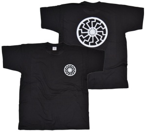 T-Shirt Schwarze Sonne I Front Backprint K2 G539