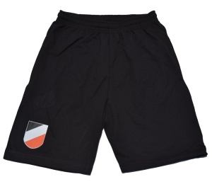 Joggingshort Wappen schwarz weiß rot K52