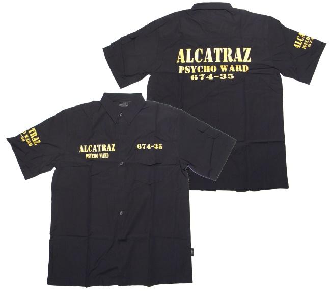 workerhemd alcatraz living dead souls living dead souls shop baalcatraz bei rockabilly. Black Bedroom Furniture Sets. Home Design Ideas