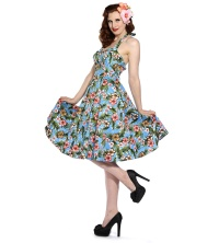 Rockabilly Kleid Hawaii Banned
