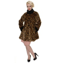 Damenmantel Sixties Leopard Collectif