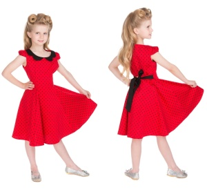 Rockn Roll Rockabilly Kleid Kinder Polka Dot H&R London