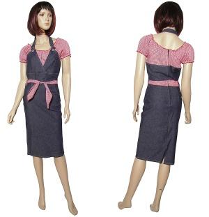 Jeanskleid Pencil Dress Miss Fortune