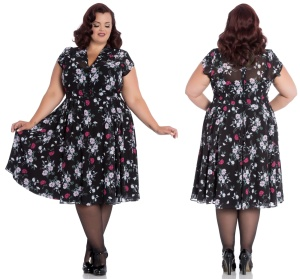 Belleville Dress Rock n Roll Kleid Hellbunny Plussize