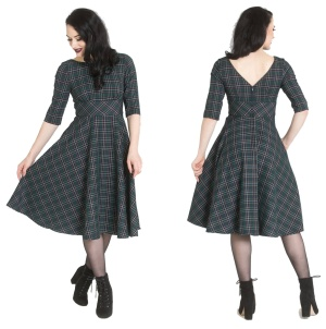 Peebles Dress Rockn Roll Kleid tartan Kleid Hellbunny