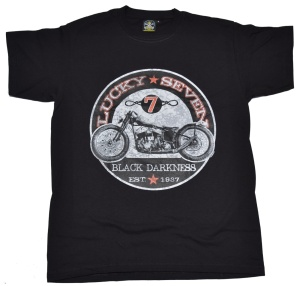 T-Shirt Lucky Seven american old school bike style