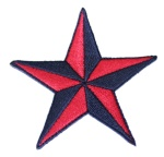 Aufnäher Nautical Star rot