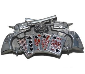 Gürtelschnalle Revolvermotiv
