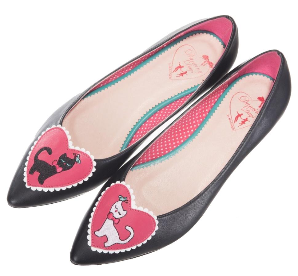 ballerina spitz boots shop babnd120blkwht bei www. Black Bedroom Furniture Sets. Home Design Ideas