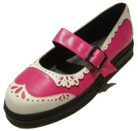 Damen Sandale im Budapesterstil pink/weiss Inamagura