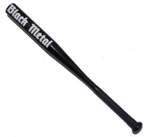Alu-Baseballschläger Black Metal in schwarz