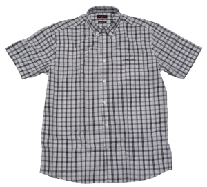 Pierre Cardin Button Down Kurzarmhemd schwarz weiß kariert
