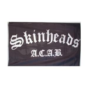 Fahne mit Aufdruck Skinhead A.C.A.B.