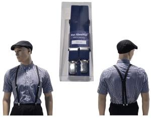 Hosenträger Deluxe Made in Germany 2 cm breit in dunkelblau