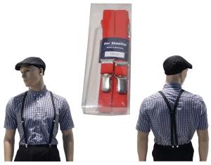 Hosenträger Deluxe Made in Germany 2 cm breit in rot