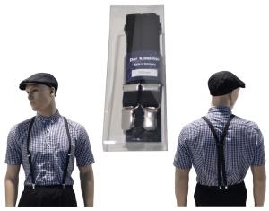 Hosenträger Deluxe Made in Germany 2 cm breit in schwarz
