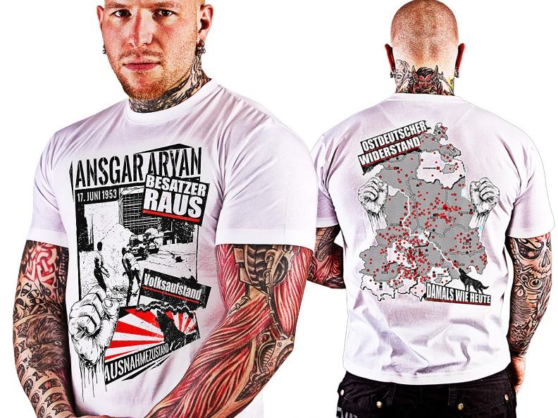 T-Shirt Volksaufstand weiß