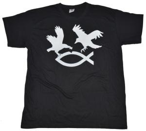T-Shirt Raben fangen Fisch G409U